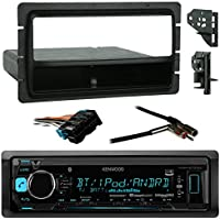 Kenwood Car USB/AUX Bluetooth Media Receiver Bundle combo with Metra installation kit (Fits most GM Vehicles), Wire Harness, Radio Antenna Adapter