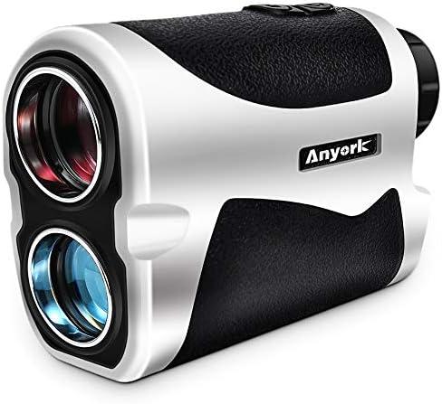 Anyork 6X Golf Rangefinder – 1500 Yard Laser Range Finder Small with Slope On Off Pinsensor Flag-Lock Tech – Laser Binoculars – with Battery