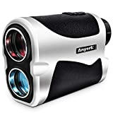 Anyork 6X Golf Rangefinder - 1500 Yard Laser Range Finder Small with Slope On/Off Pinsensor Flag-Lock Tech - Laser Binoculars - with Battery