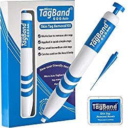 The Micro Auto TagBand kit makes skin tag removal even easier than before with this one-handed user-friendly design. TagBand works by stopping the skin tags blood supply and results can be seen within just a few days of applying a band. On average a ...