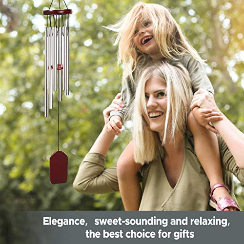 MOHOO Wind Chime, Wind Chime Small Wind Chimes Bells 6 Metal Tubes Windchime for Garden, Yard, Patio, Home Decoration and Gift