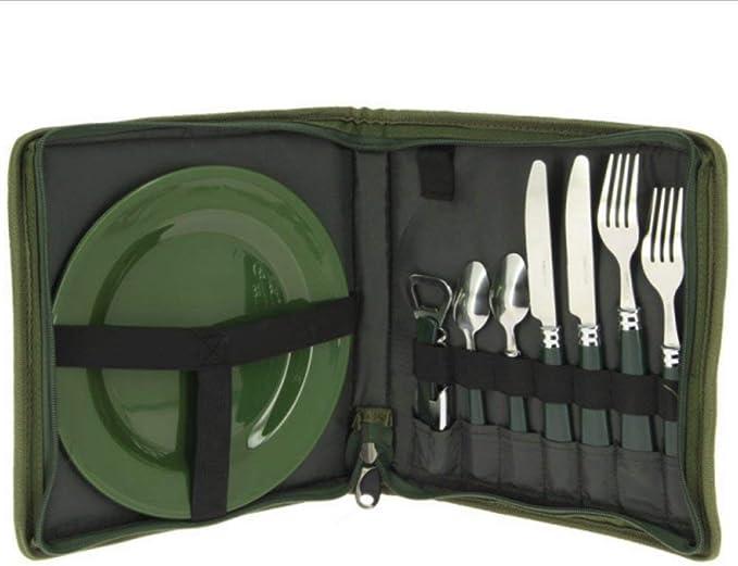 NGT Juego de cubiertos para la pesca o camping