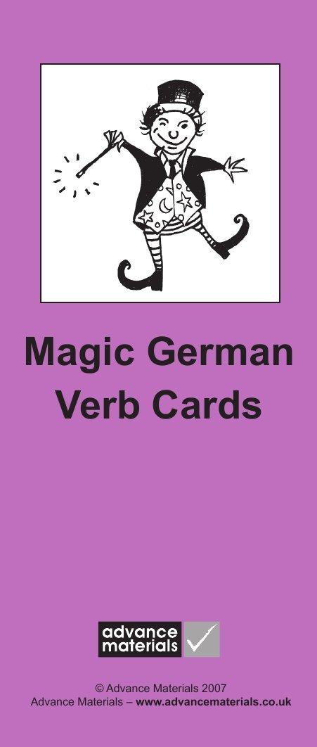 Magic German Verb Cards Flashcards (8): Speak German more fluently! (German Edition)