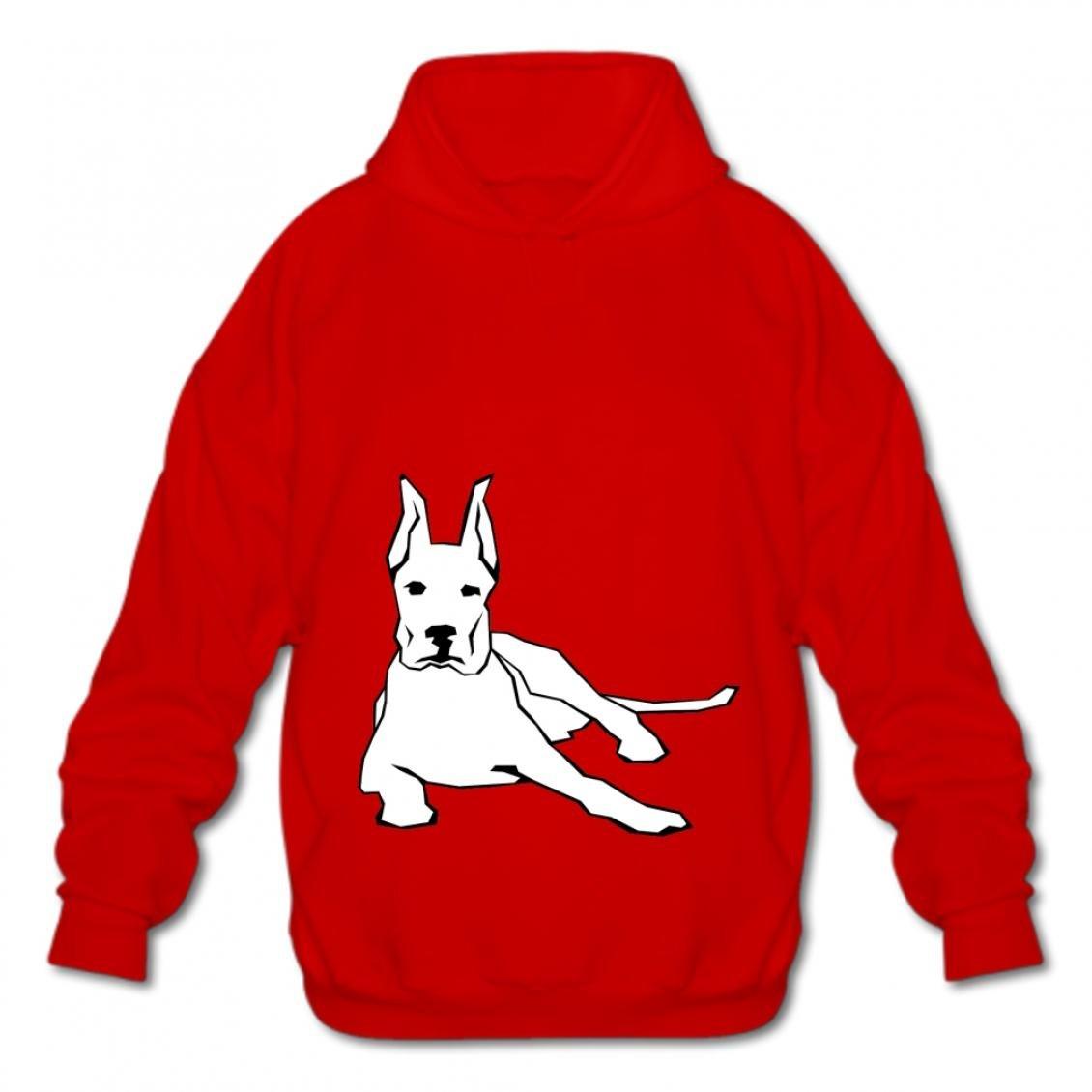 Euochengqus Mens Style Cotton Pullover Fashion Hoodies-03 Cartoon Dog Tqke Hooded Sweatshirt