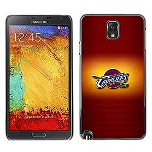 SAMSUNG Galaxy Note 3 III / N9000 / N9005 , Radio-Star - Cáscara Funda Case Caso De Plástico (Cavalier Basketball)
