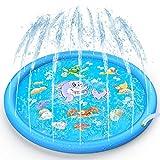 Tobfit Sprinkler Splash Pad 68 Inch, Funny Outdoor Party Sprinkler Toy Sprinkler Play