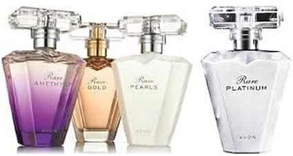 Avon Rare Colección de perfumes , Rare Gold, Rare Pearls, Rare Amethyst y Rare Platinum, 50 ml, Eau de Parfums