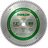 Oshlun SBW-120080 12-Inch 80 Tooth ATB Finishing Saw Blade with 1-Inch Arbor