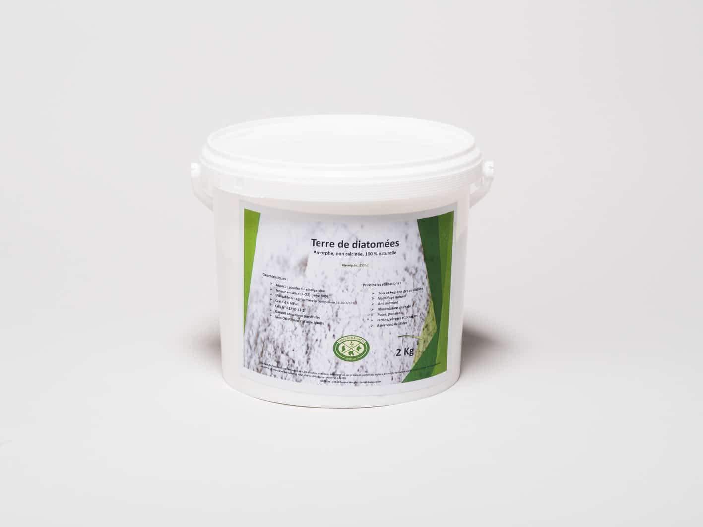 Terre de diatomée Poudre, Alimentaire - Seau de 1kg Utilisable en Agriculture Biologique - Haute pureté sans Traitement - Nombreux usages en Basse Cour Maison. Diamix Europe