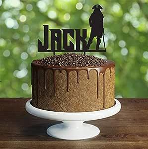 Decoración para tarta de pirata, personalizable, decoración ...
