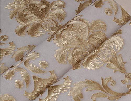 aztk europeo PVC estilo profundo patr/ón de textura en relieve tallado en relieve oro papel pintado decoraci/ón impermeable dorado papel pintado para dormitorio sal/ón fondo decoraci/ón para el hogar