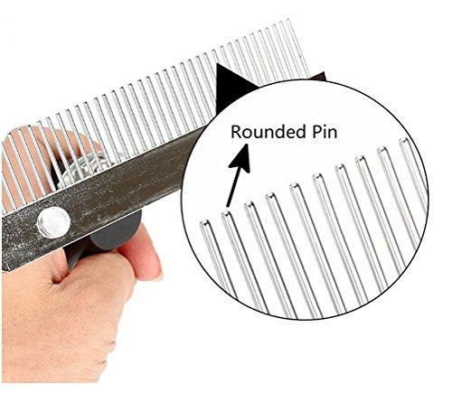 DAN Rake For Dogs,Pet Comb Extra-Large Rake Comb Grooming Brush Deshedding Tool Beauty Comb For Large Pet by DAN (Image #5)