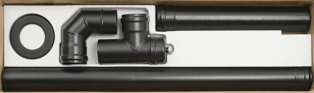 ALA PELLET aeternum Y40725150004 Heizkörperinstallation, Schwarz matt, D. 80