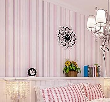 Modern Minimalist Mediterranean Blue Stripes Pink Childrens Room Non Woven  Wallpaper Warm Living Room Bedroom