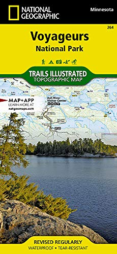 Voyageurs National Park (National Geographic Trails Illustrated Map) (Best Mn State Parks For Camping)