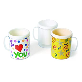 Amazon Com Colorations Design Your Own Mugs Set Of 12 Item