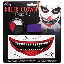 Killer Clown Big Mouth Halloween Makeup Kit - Tattoo, Paint & Spirit Gum Remover