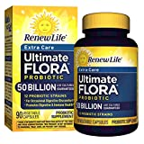 Renew Life Adult Probiotic - Ultimate Flora Probiotic Extra Care, Shelf Stable Probiotic Supplement - 50 billion - 90 Vegetable Capsules