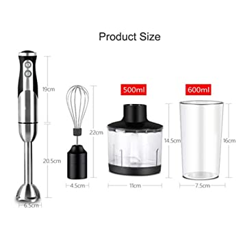 Amazon.com: Batidora de mano 4 en 1 portátil para cocina ...