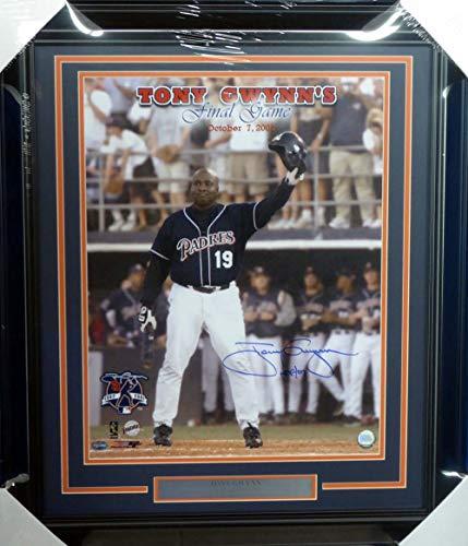 Tony Gwynn Autographed Framed 16x20 Photo San Diego Padres