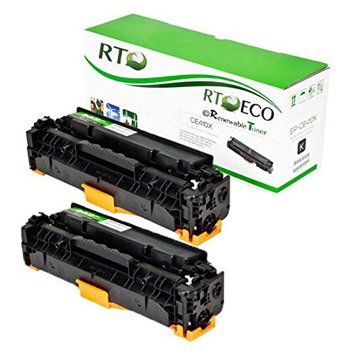 Renewable Toner 305X CE410X Compatible Black Toner Cartridge 2-Pack for HP LaserJet Pro 300 M375 400 M451 M475