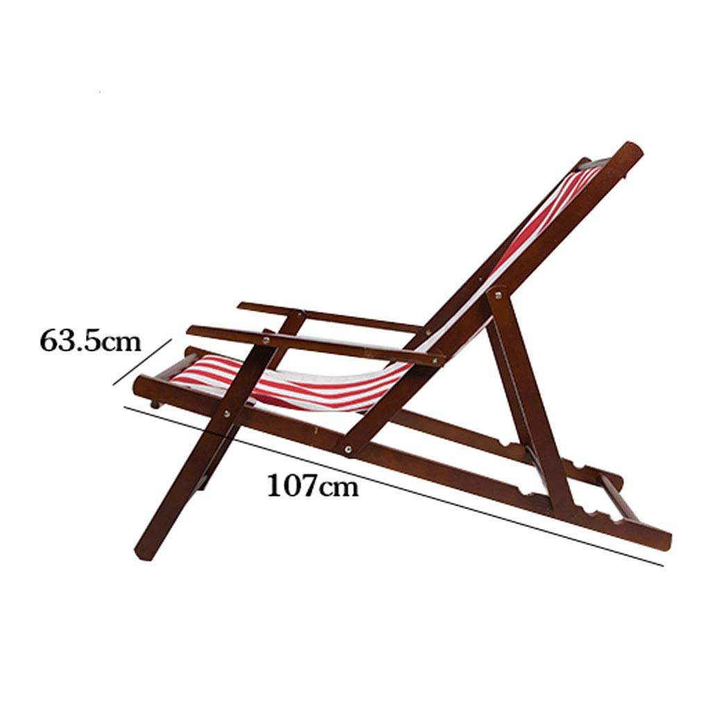 Amazon.com: Silla reclinable plegable de madera maciza ...