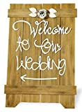 Celebrate the Home Wedded Bliss Wood and Metal Rustic Sign, Welcome to Our Wedding Review