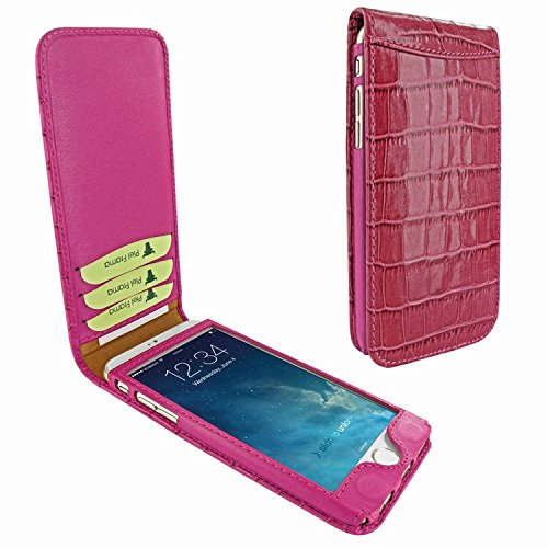 Piel Frama 689 Pink Crocodile Magnetic Leather Case for Apple iPhone 6 Plus / 6S Plus by Piel Frama
