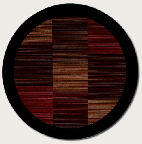 Couristan 0766/4998 Everest Hamptons/Multi Stripe 5-Feet 3-Inch Round Rug - Multi Stripe Square Rug