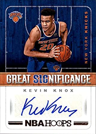 2018-19 NBA Hoops Great SIGnificance  59 Kevin Knox Auto New York Knicks  Authentic 71b44fa7d