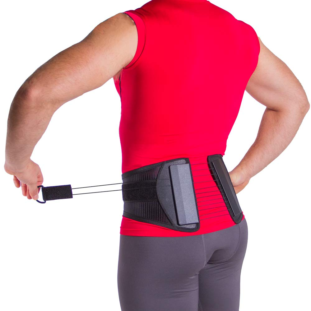 Spine Sport Back Brace - Best Active Lumbar Support for Athletic Use, Exercise, Walking, Working Outside, Walking, Driving, Golf, Fishing, Nurses, and Police (M) by BraceAbility