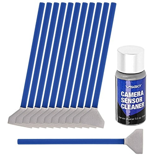 VSGO DDR-24 Digital Camera Full-Frame Sensor Cleaning Swab Type 3 Kit (Box of 12 X 24mm Swab + 15ml Sensor - Cleaner Swabs