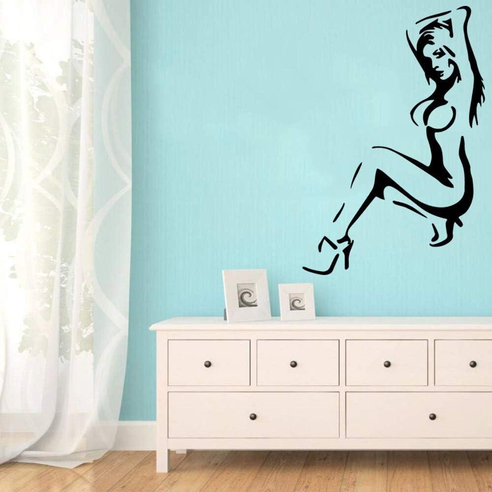 wZUN Pegatinas de Pared de Mujer Desnuda Personalidad Creativa habitación de los niños decoración del hogar Impermeable Pared Arte calcomanía 28X41cm