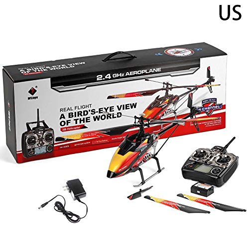 Centishop Remote Control Helicopter, Weili V913 Single Paddle with Gyro and Led Light Navigation Propeller Remote Control Helicopter for Kids & Adult Micro RC Helicopter Model Toy