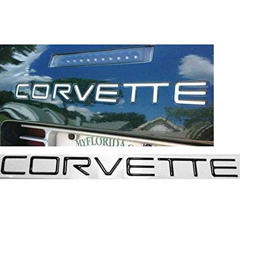- Eckler's Premier Quality Products 25287331 Corvette Rear Bumper Lettering Kit Black