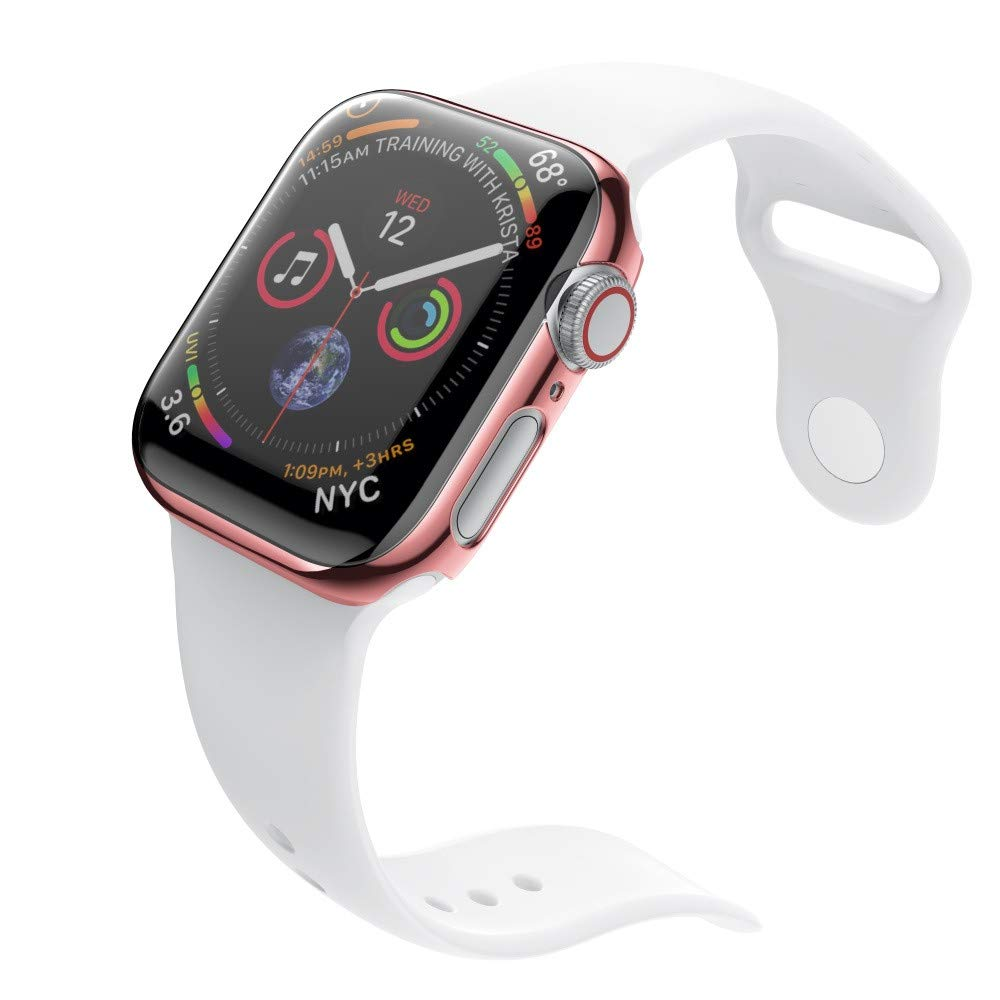 yuemizi Ultra Thin PC Plating Cases Protective Bumper Case Cover For Apple Watch 4 40mm 44mm (40mm, Rose Gold) by yuemizi (Image #3)