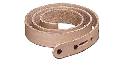 ce6129abbd9 Amazon.com: Tandy Leather Extra Long Natural Cowhide Belt Blank 1-1 ...