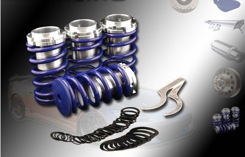 ((Blue)88 89 90 91 92 93 94 95 96 97 98 99 00 Honda Civic Eg Ek Ex Lx Lowering Coilovers Spring Kits High performance parts)