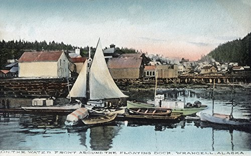 (Wrangell, Alaska - Waterfront View of the Floating Dock (16x24 Giclee Gallery Print, Wall Decor Travel Poster))