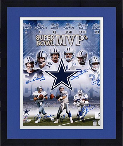 - Framed Dallas Cowboys Autographed 16'' x 20'' Photograph with 6 Signatures - Fanatics Authentic Certified
