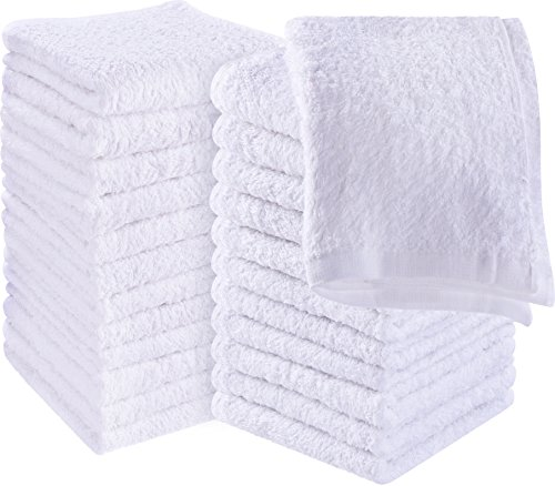 Utopia Towels Cotton Washcloths, 24 - Pack, White by Utopia Towels
