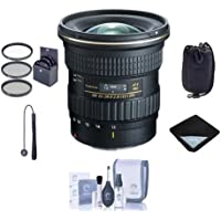Tokina ATX 11-20mm F/2.8 Pro DX Ultrawide Zoom Lens for Digital Nikon F Mount Cameras - Bundle with 82mm Filter Kit, Lens Pouch, Lens Wrap (19x19), Cleaning Kit, Capleash