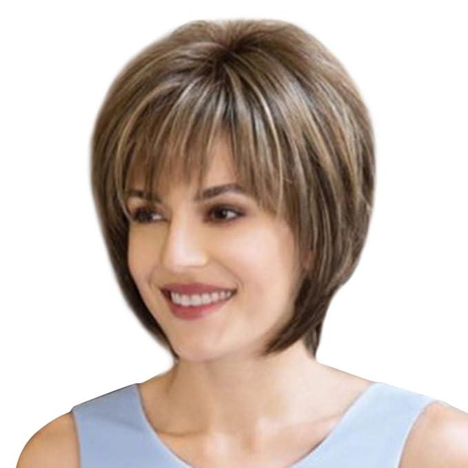 Bob Perucke Blau Oyedens Frauen Perucke Glattes Haar Kurze Haare