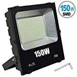 W-LITE 150W LED Flood Light, Super Bright 300 LED, 16500LM, Soft Daylight White, Full Power, 1200W Equivalent, Waterproof Outdoor Lighting, Security Lamps, 86-265V Input Voltage (150W)