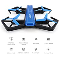 RC Quadcopter, Seetru Mini Foldable 2.4GHz 6-Axis Gyro RC Selfie Drone with WiFi FPV 720P HD Camera / Auto Beauty Mode / Headless Mode / G-sensor Mode / Support APP Control
