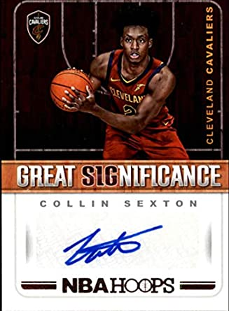 newest 2a8a9 3b346 Amazon.com: 2018-19 NBA Hoops Great SIGnificance #58 Collin ...