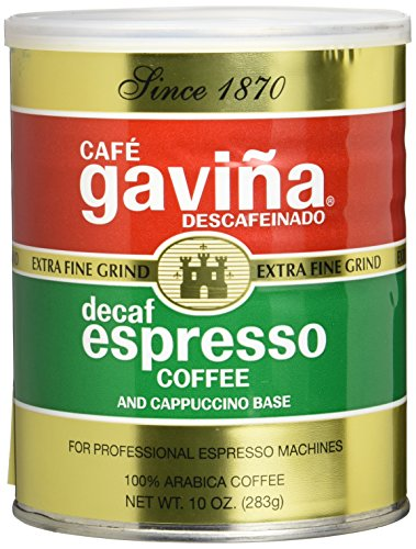Gavina Decaf Espresso Extra Fine Grind, 10 Ounce Can
