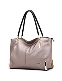 FOXER Women Handbag Leather Purse Lady Tote Shoulder Bag Top Handle Bag