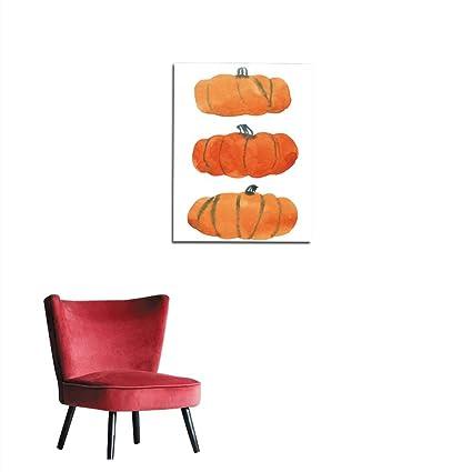 Amazon Com Unprecall Wallpaper Watercolor Orange Pumpkins