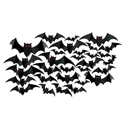 amscan Halloween Cemetery Bat Cutouts Mega Value Pack- 30 Pack